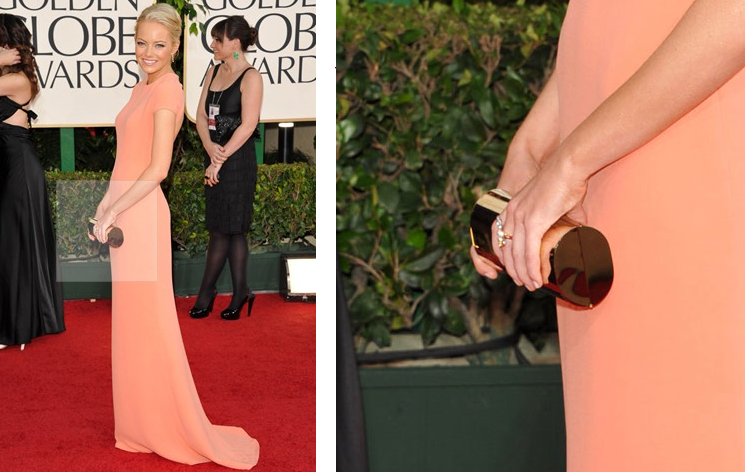 emma stone dress golden globes. dresses the 2011 Golden Globes