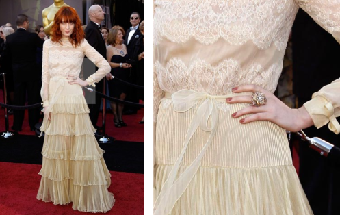 Céline Dion wearing Armani Privé (elongated tan nails). Florence Welch in ...