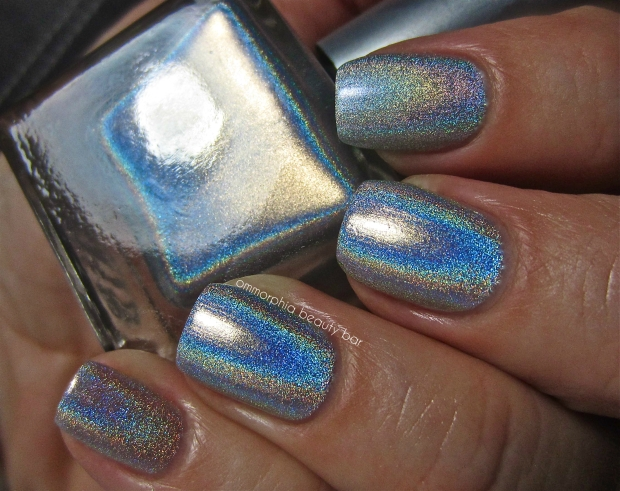 UO Silver Holo & comps swatch