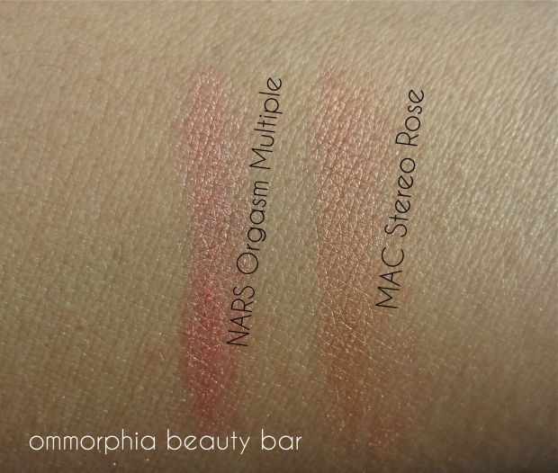 Highlighter-Blush hybrids swatch