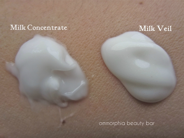 L'Occitane Milk Veil & Concentrate swatch