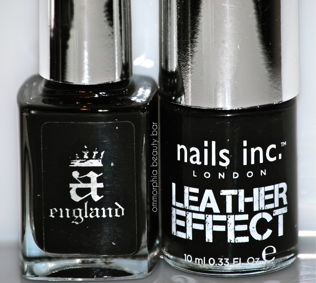 nails inc. Leather Effect & a-england Camelot