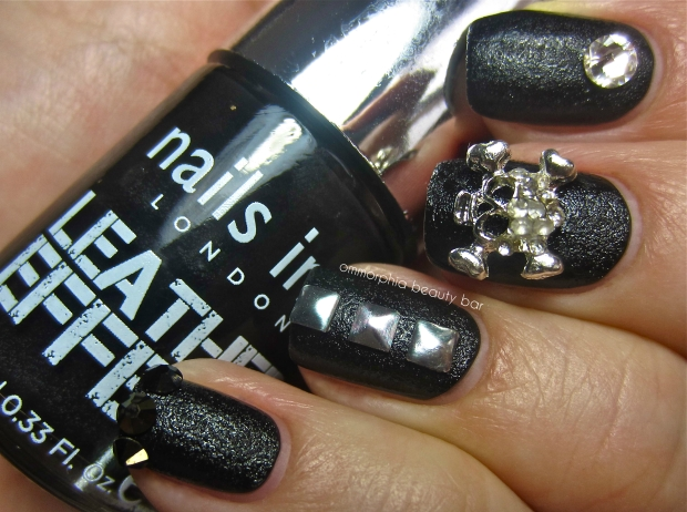 nails inc. Leather Effect embellished