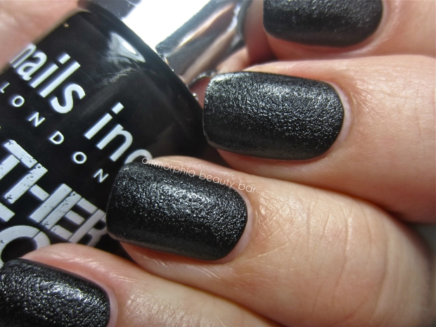 nails inc. Leather Effect swatch macro