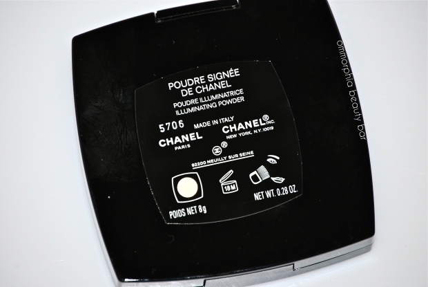 Chanel Illuminating Powder back of compact