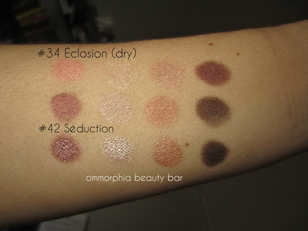 CHANEL Seduction vs Eclosion swatch 2