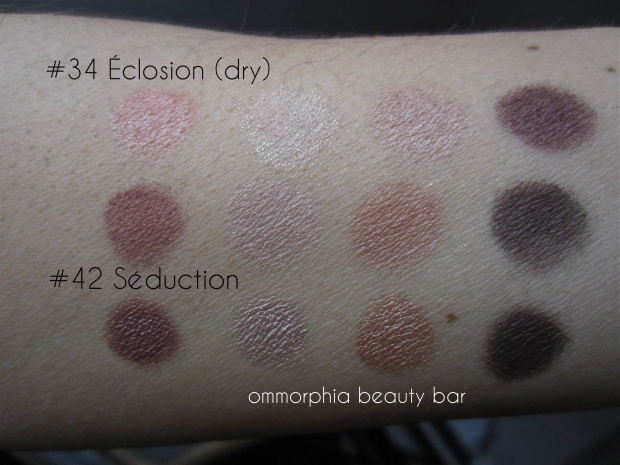 CHANEL Seduction vs Eclosion swatch