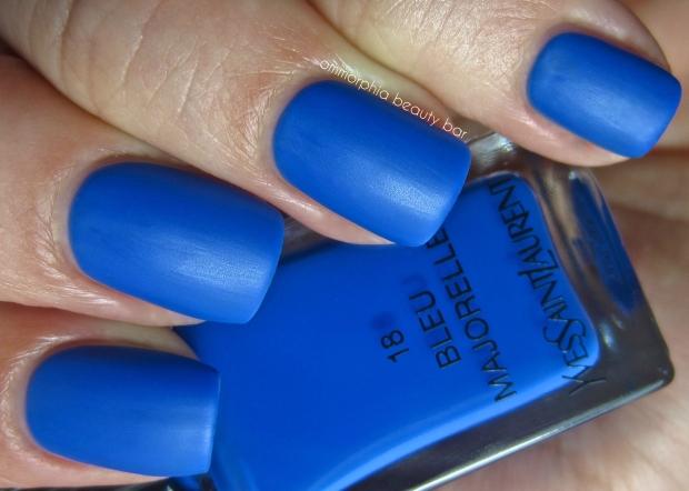 YSL Bleu Majorelle matte swatch 2