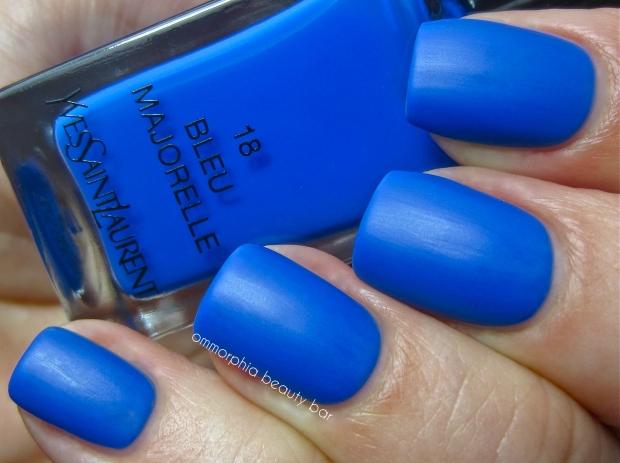 YSL Bleu Majorelle matte swatch