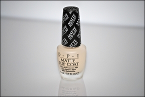 OPI Matte Top Coat closer
