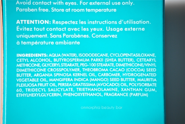 Moroccanoil Hand Cream ingredients