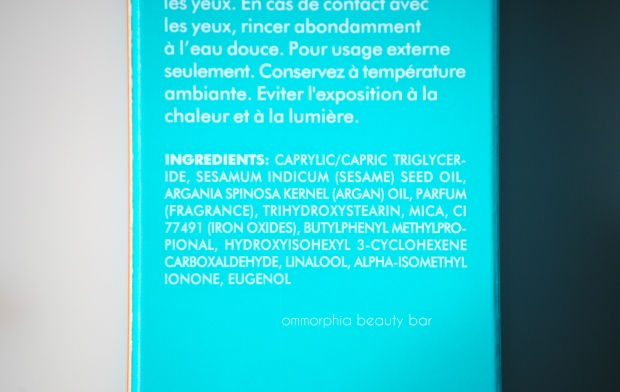 Moroccanoil Shimmering Body Oil ingredients