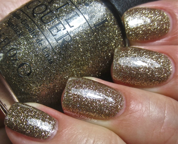 OPI All Sparkly and Gold swatch