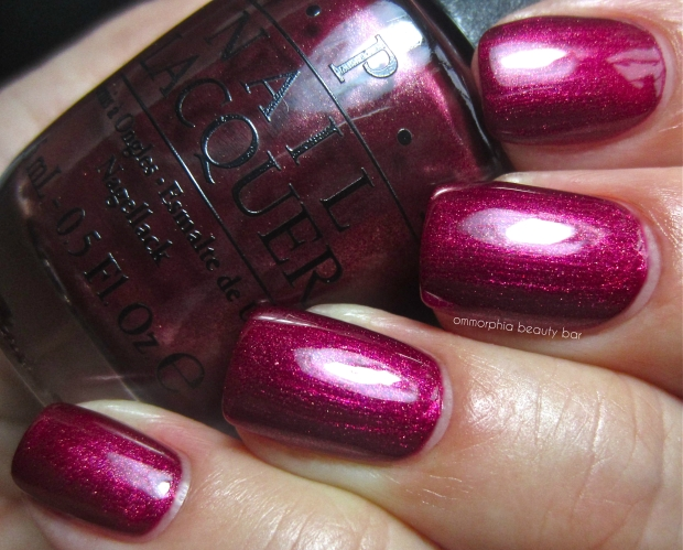 OPI Cute Little Vixen swatch