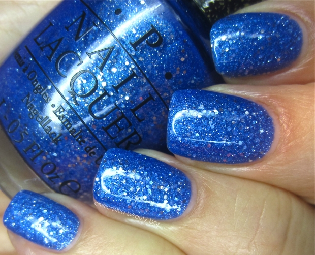 OPI Kiss Me At Midnight glossy swatch