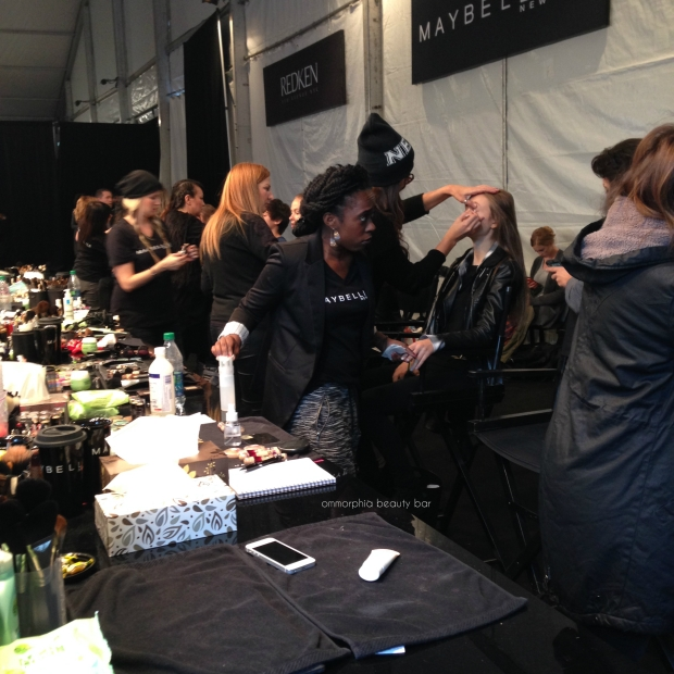 WMCFW backstage makeup
