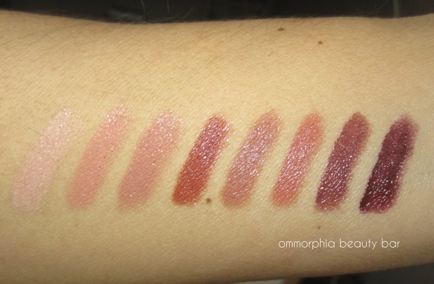 Maybelline The Buffs swatches flash