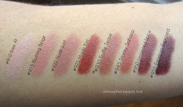 Maybelline The Buffs swatches natural light