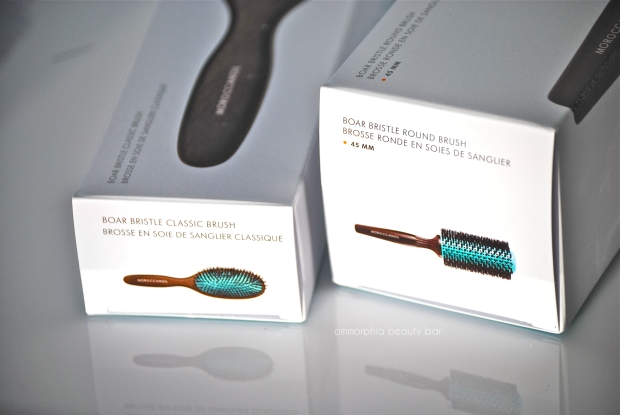 Moroccanoil hair brushes boxes