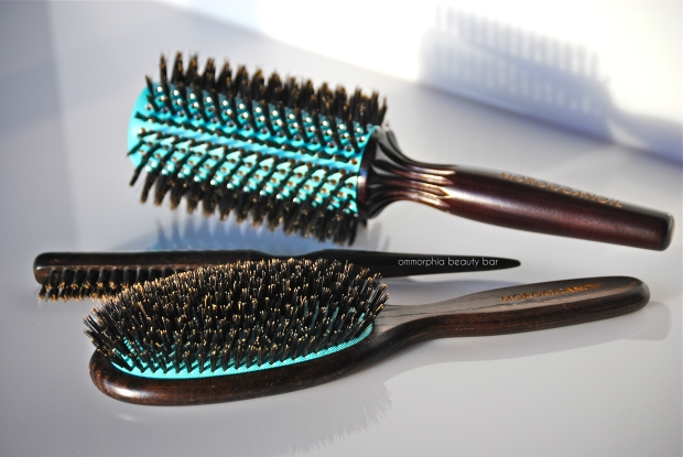 Moroccanoil hair brushes closer