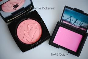Lancome Rose Ballerine vs NARS Gaiety