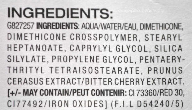 Maybelline Baby Skin ingredients