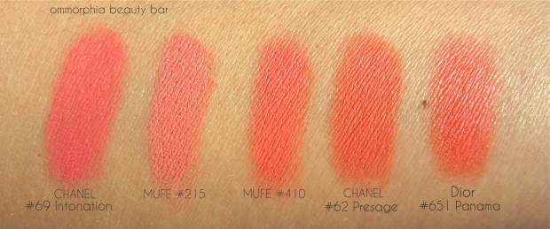 MUFE 215 & 410 Blushes with comparisons