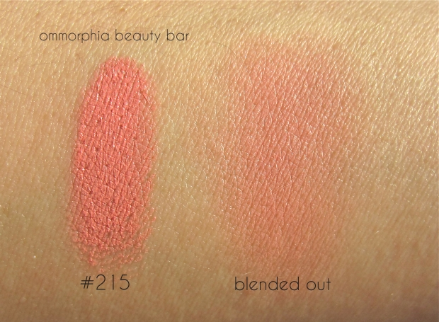 MUFE #215 Blush swatch