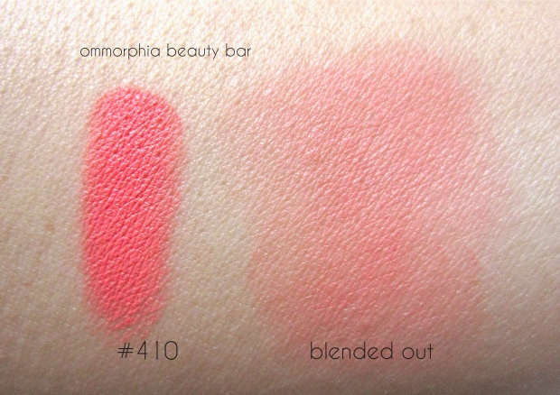 MUFE 410 Blush swatch 2
