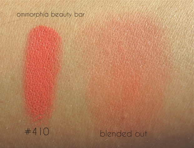 MUFE #410 Blush swatch