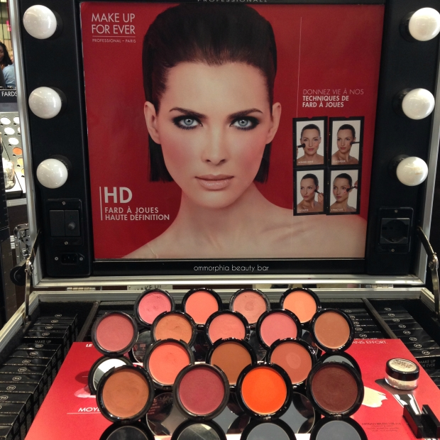 MUFE HD Blush event