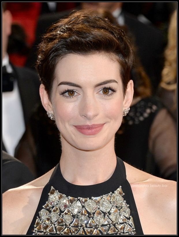 Anne Hathaway makeup oscars 2014
