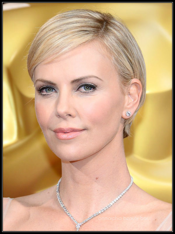 Charlize Theron makeup Oscars 2014