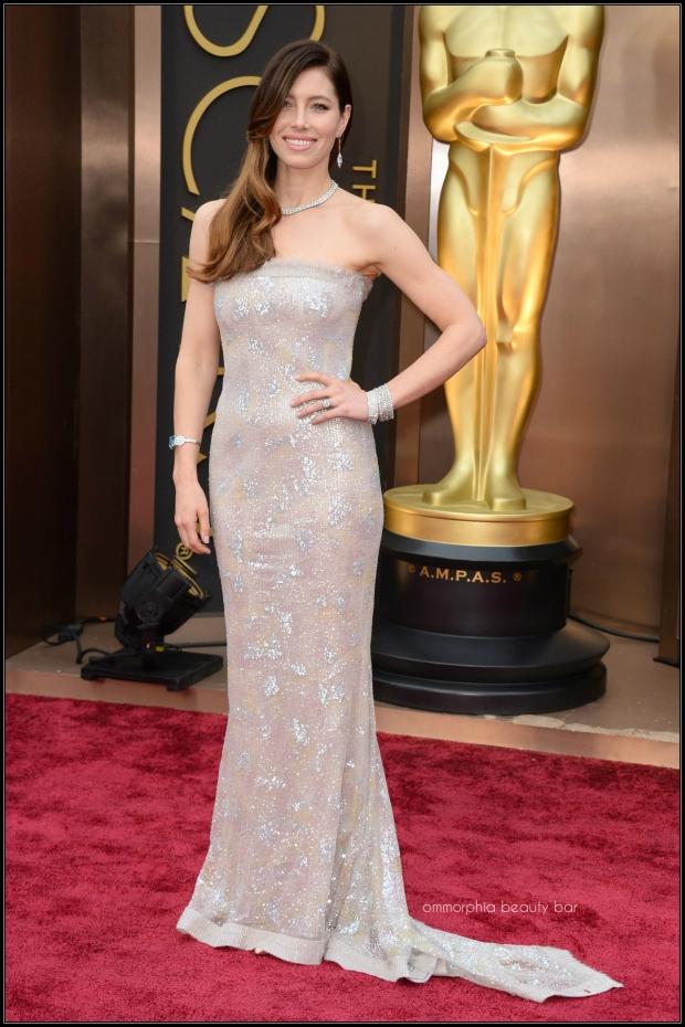 Jessica Biel Chanel gown