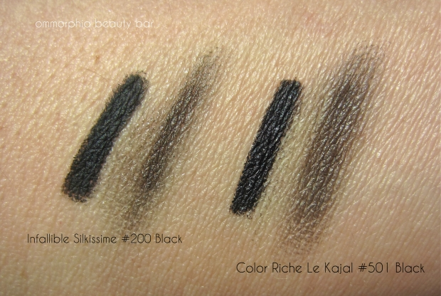 L'Oreal liners swatch