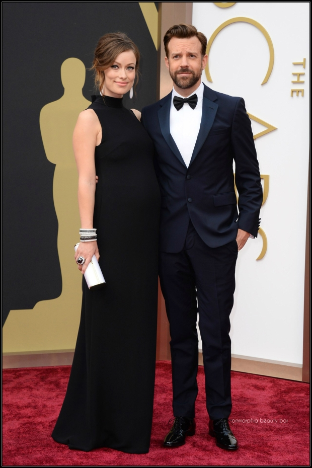 Olivia Wilde in Valentino & Jason Sudeikis in Prada