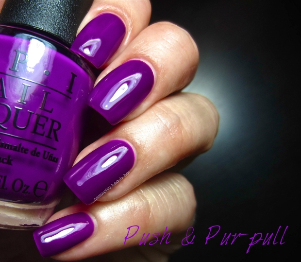OPI Neons Push & Pur-pull swatch
