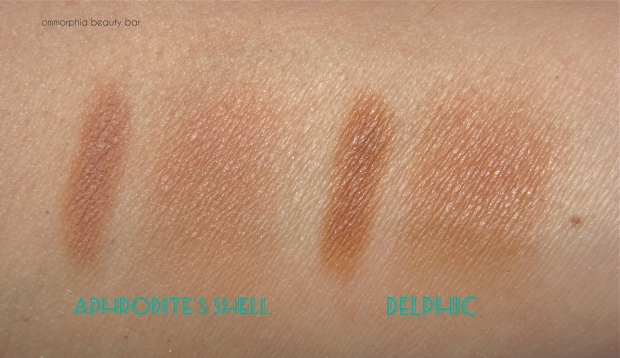 MAC Extra Dimension Bronzing Powders swatches