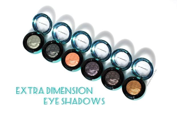 MAC Extra Dimension Eye Shadows opener