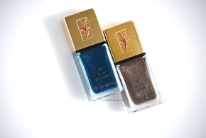 YSL Bleu Galuchat & Taupe Grainé opener